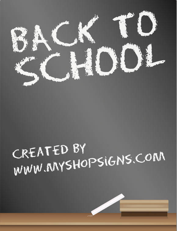free vector Back to School Blackboard Sign