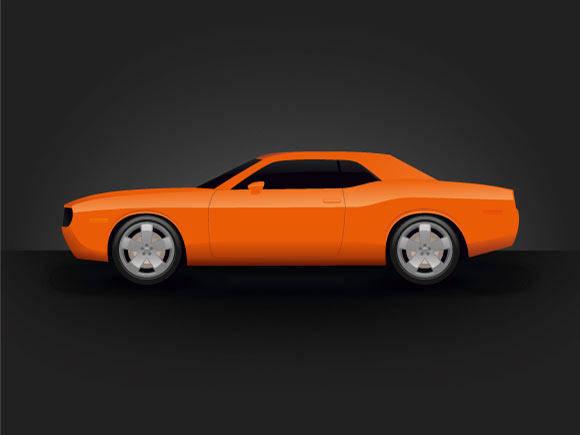 free vector Dodge Challenger