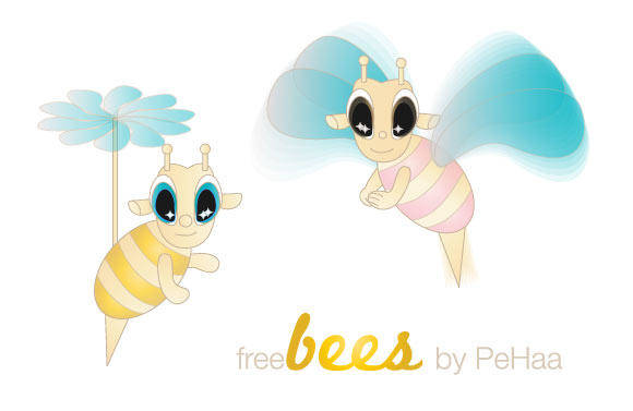 Free Bees – Vector Characters