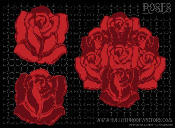 free vector Rose Bouquet