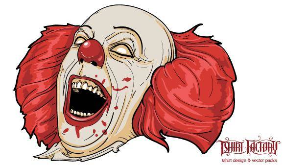 free vector Evil Clown