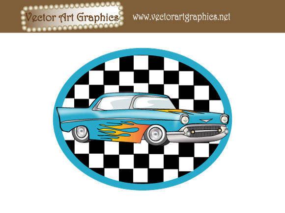 free vector Vector Art Graphics - Classic Automobile