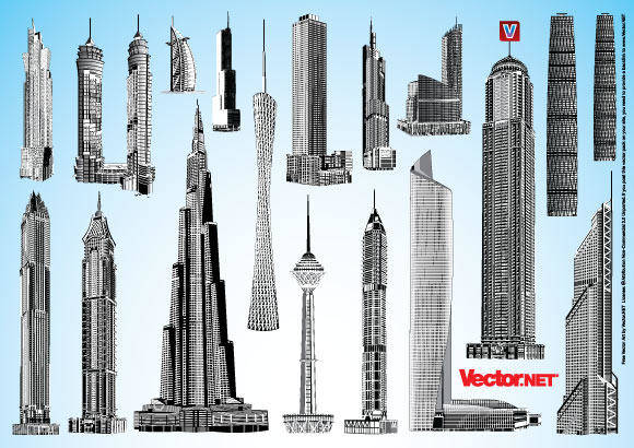 free vector Skyscraper Vector Pack 1