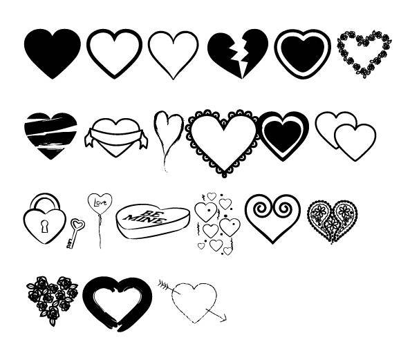 free vector Hearts Vectors Mix