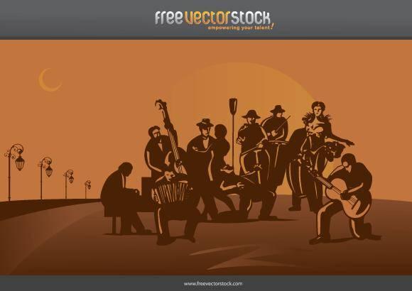 free vector Tango orchestra