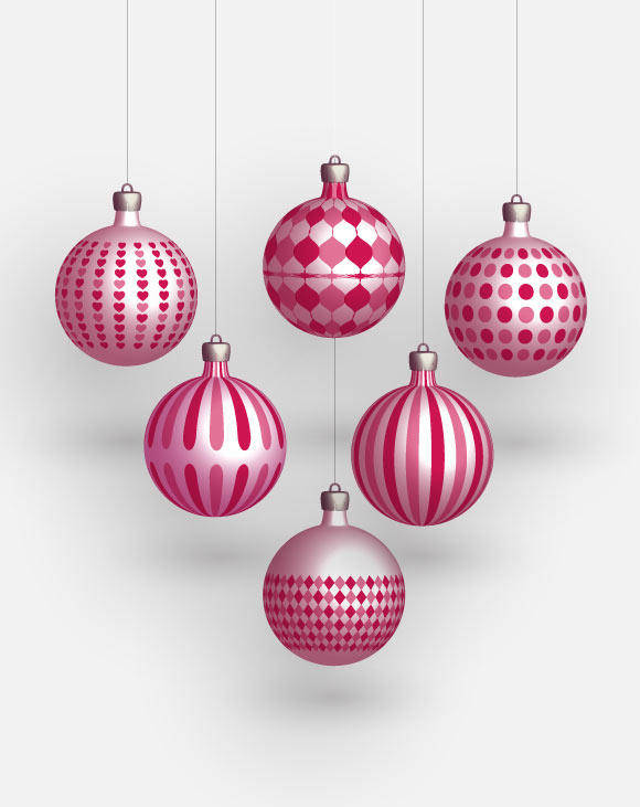 Christmas Freebies – Vector Balls