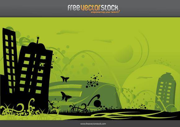 free vector Green City