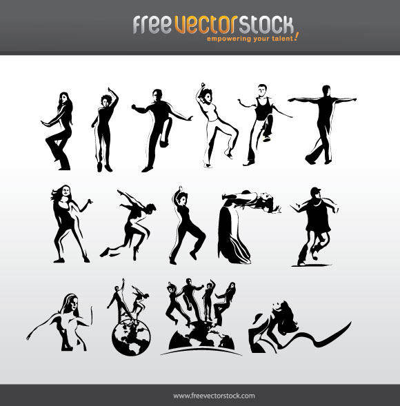 free vector People dancing