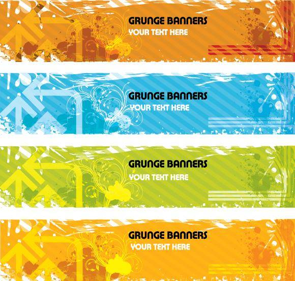 free vector Grunge Banners