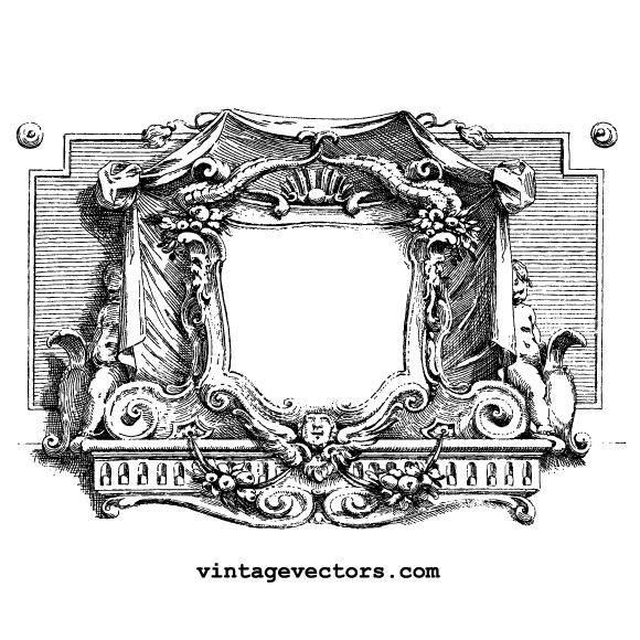 Vintage Cartouche Vector Graphic