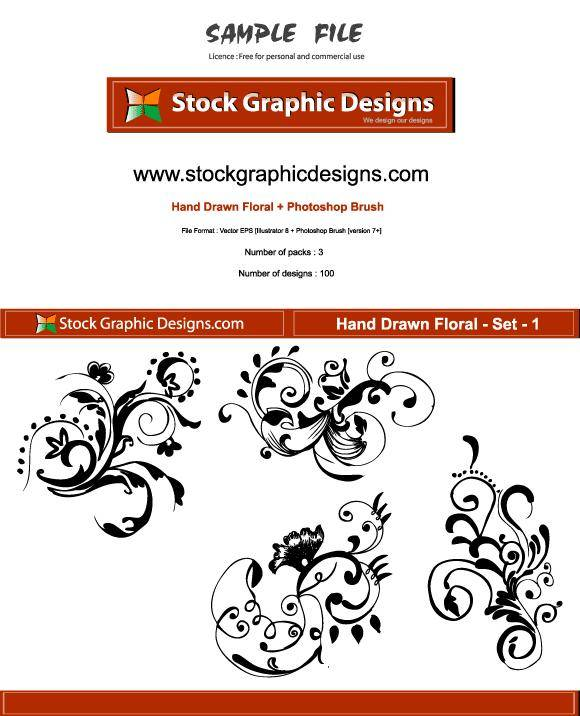 Hand Drawn Floral 124635