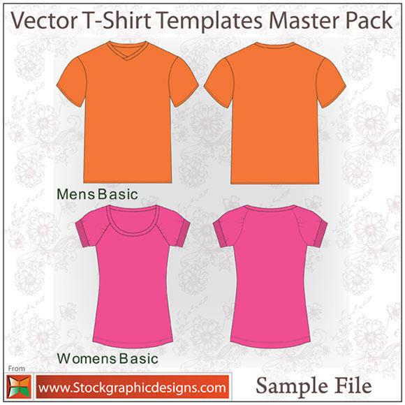 free vector Vector T-shirt Template