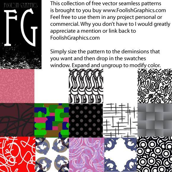 free vector Foolish seamless pattern pack 1