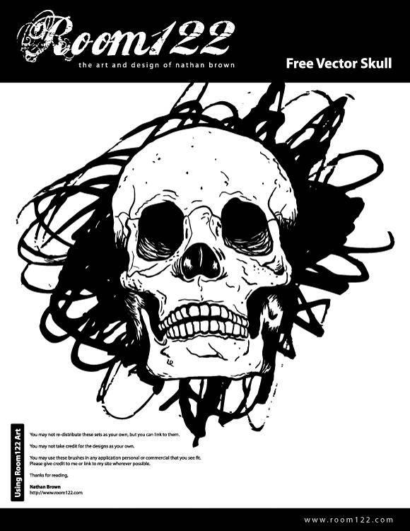 free vector Hand Drawn Vector Skull