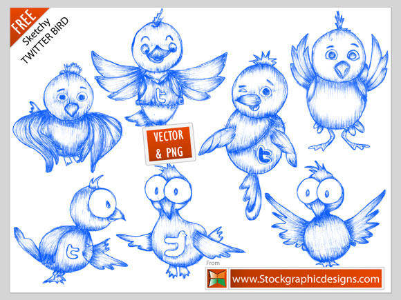 free vector Free Twitter Icons