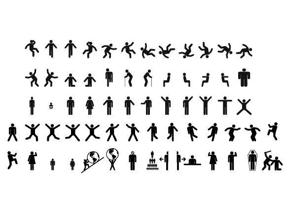 free vector Man & woman sign pictograms