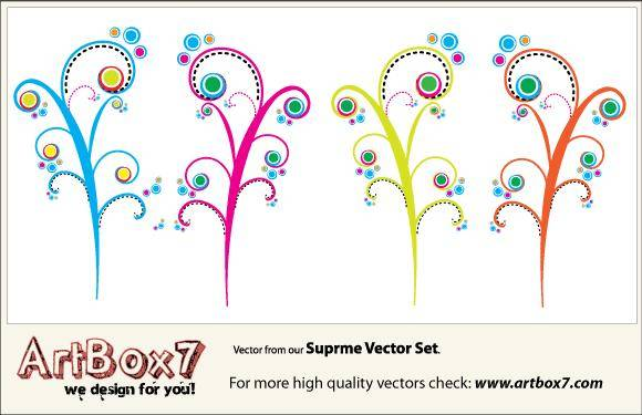 free vector Colorful Swirls Vectors