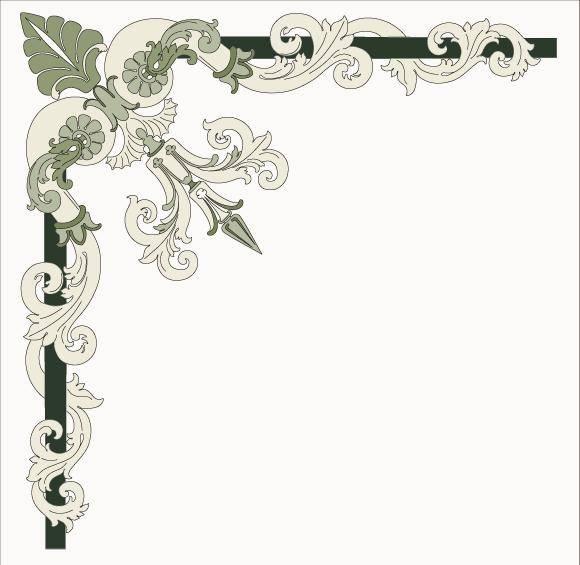 free vector Corner ornament - Italian style
