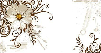 Wild chrysanthemum and fashion pattern vector mat