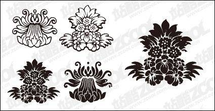 free vector Gomedia produced classical pattern vector material