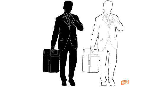 Business man silhouette free vector