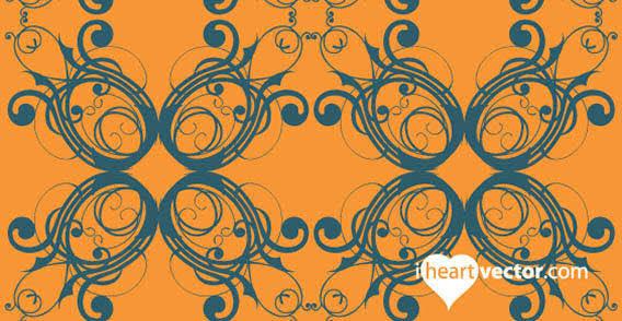 Iheartvector free pattern flourish