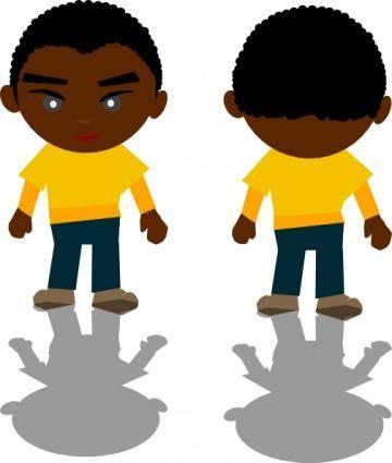 free vector Ricardo Black Boy Png clip art