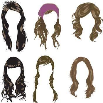 Hair style vector 2