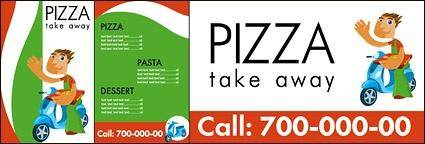 free vector Pizza shop vector image of a simple template material