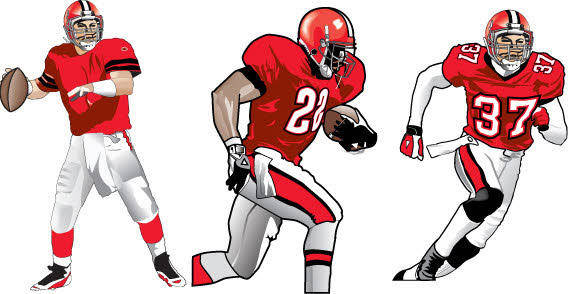 Football player free vector