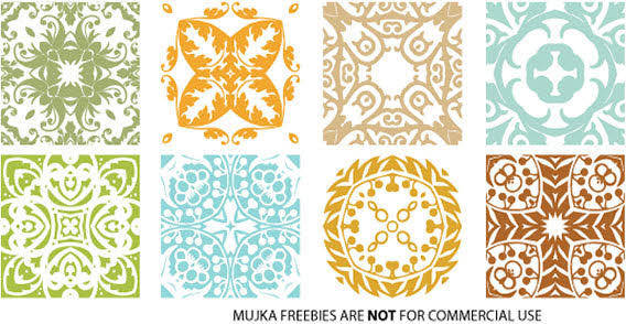 free vector Different colorful floral patterns