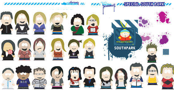 Splats and south park free vector