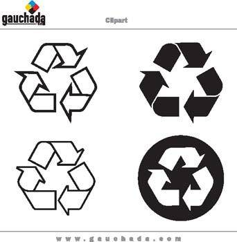 free vector Recycling Pattern