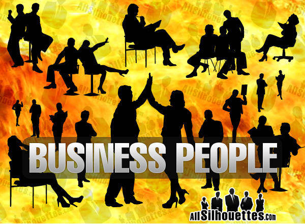 free vector Businesspeople