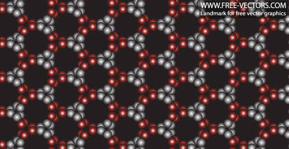 free vector Free pattern black circle background