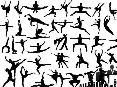 free vector Vector dancing people