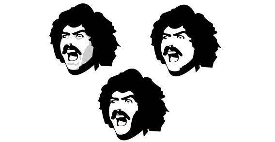 Three mustashe face free vector