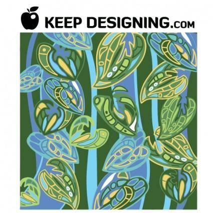 Jungle Wallpaper Pattern Vector