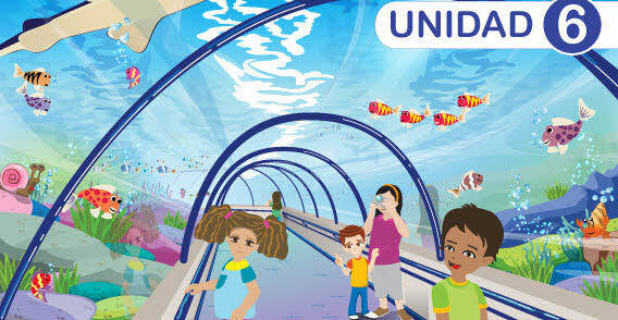 Children under the sea world vector