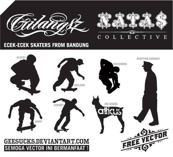 free vector Skaters from Bandung