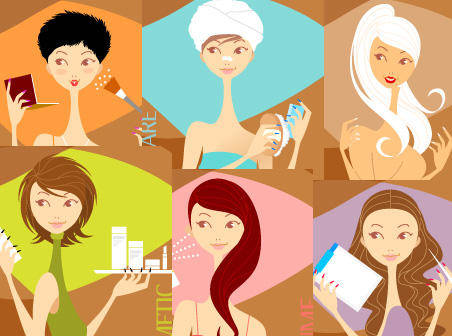 free vector Beauty Girls Vector Graphics