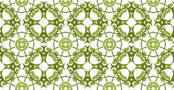 Seamless floral green wallpaper