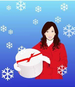 free vector Beautiful sexy winter girl 7