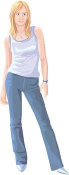 free vector Jeans Girl Vector 22