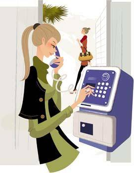 free vector Girl with phone 29
