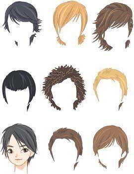 Hair style vector 1
