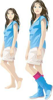 free vector Beautiful Urban Girl 14