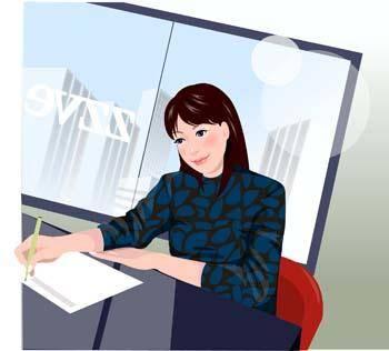 free vector Business women 5