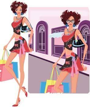 free vector Shopping urban 3
