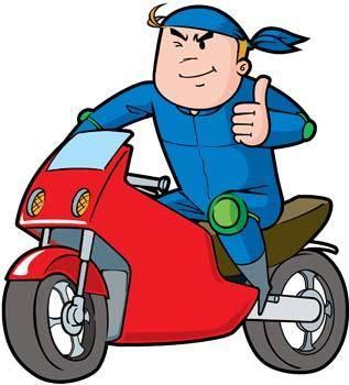 free vector Motorcycle boy 1